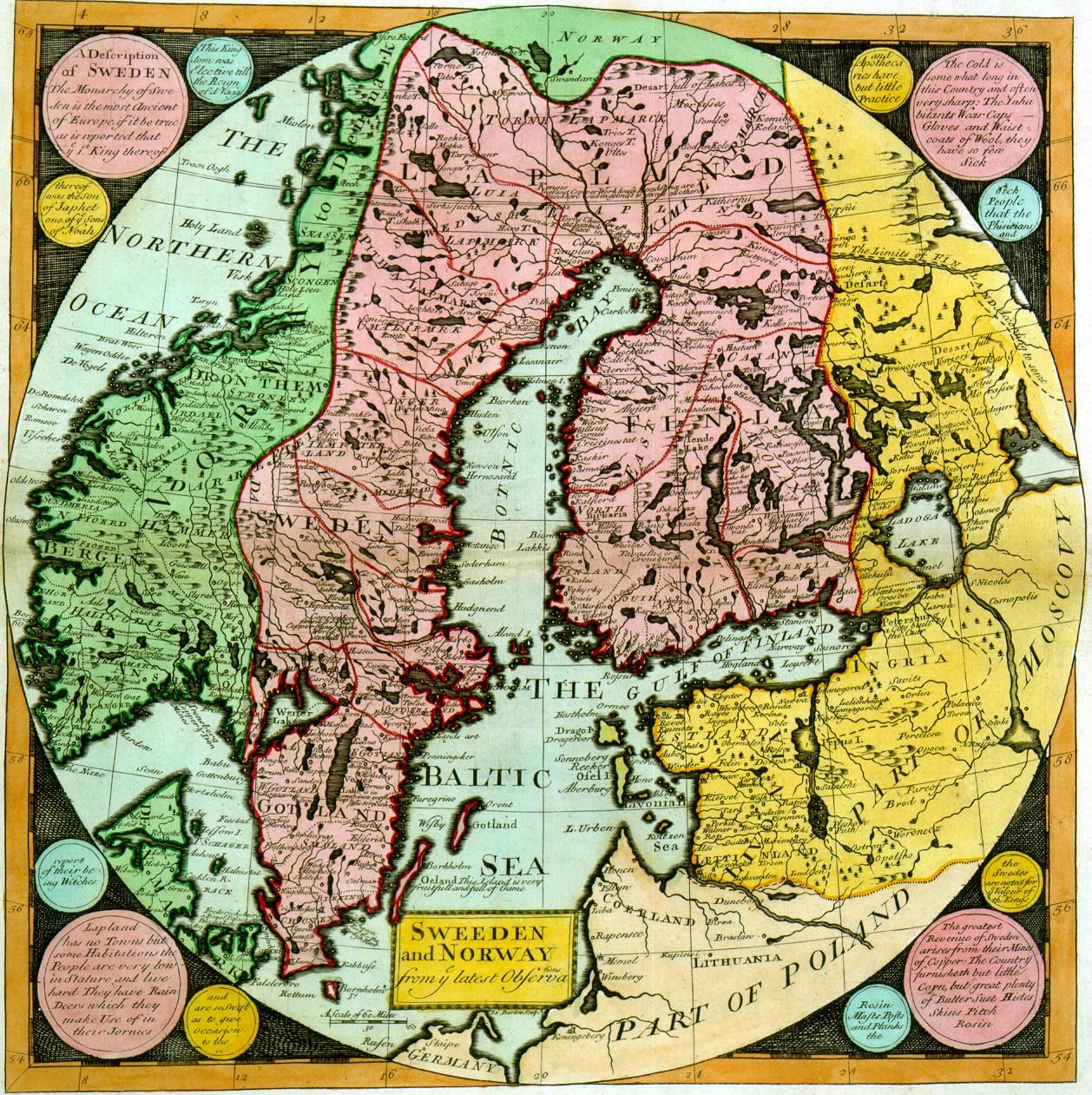 Ruotsi Ja Norja Kartta Jyx Expo