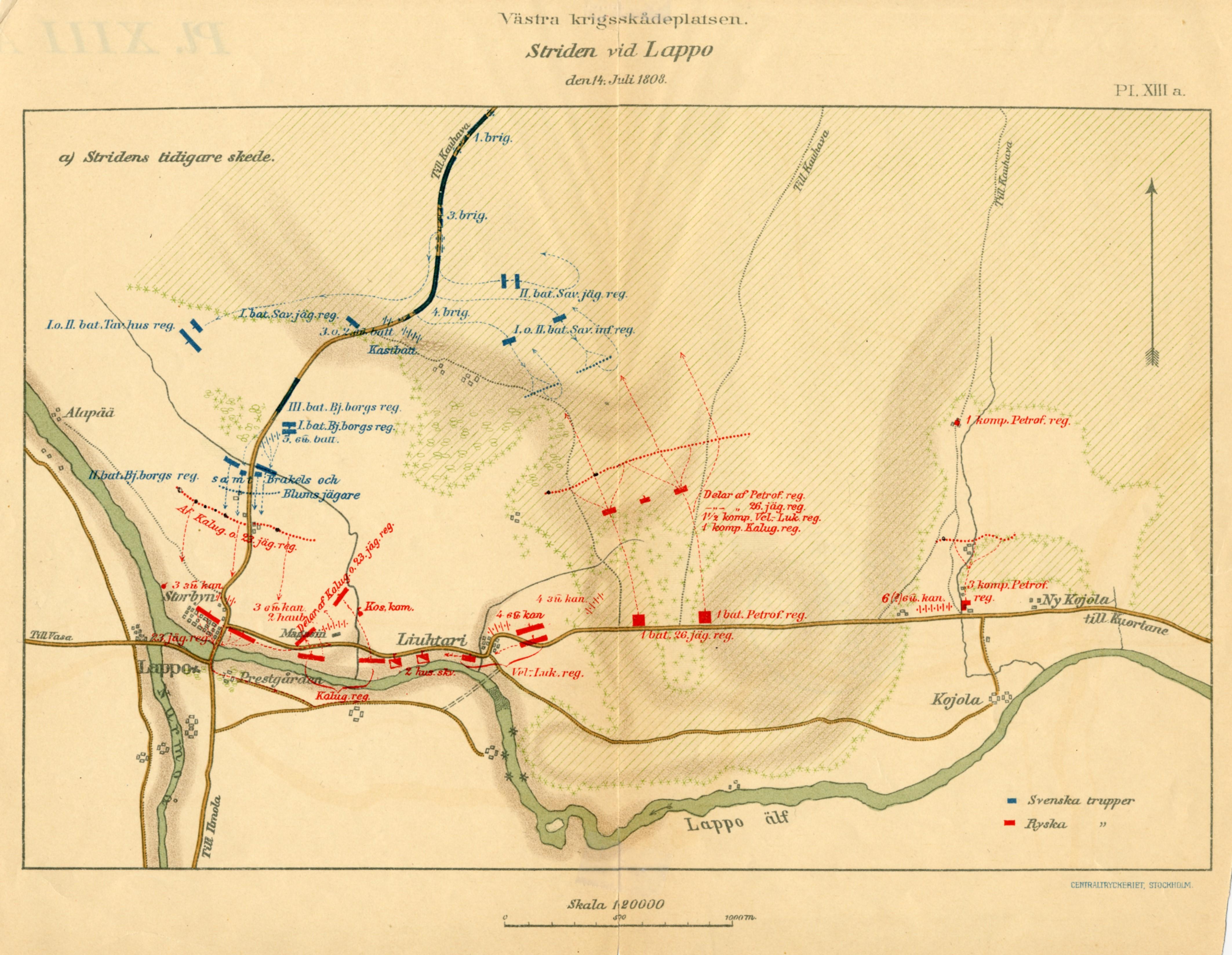 Lapuan Taistelu 14 7 1808 Kartta Jyx Expo